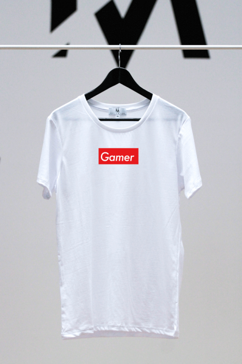 Gamer Shirt weiß