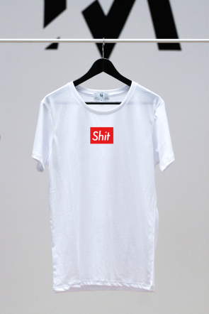 Shit Shirt weiß